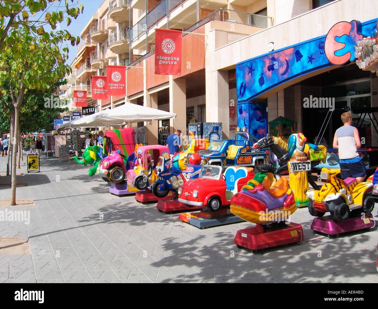 Shopping Centre Alcudia Majorca Spain Stock Photo 2553020 Alamy