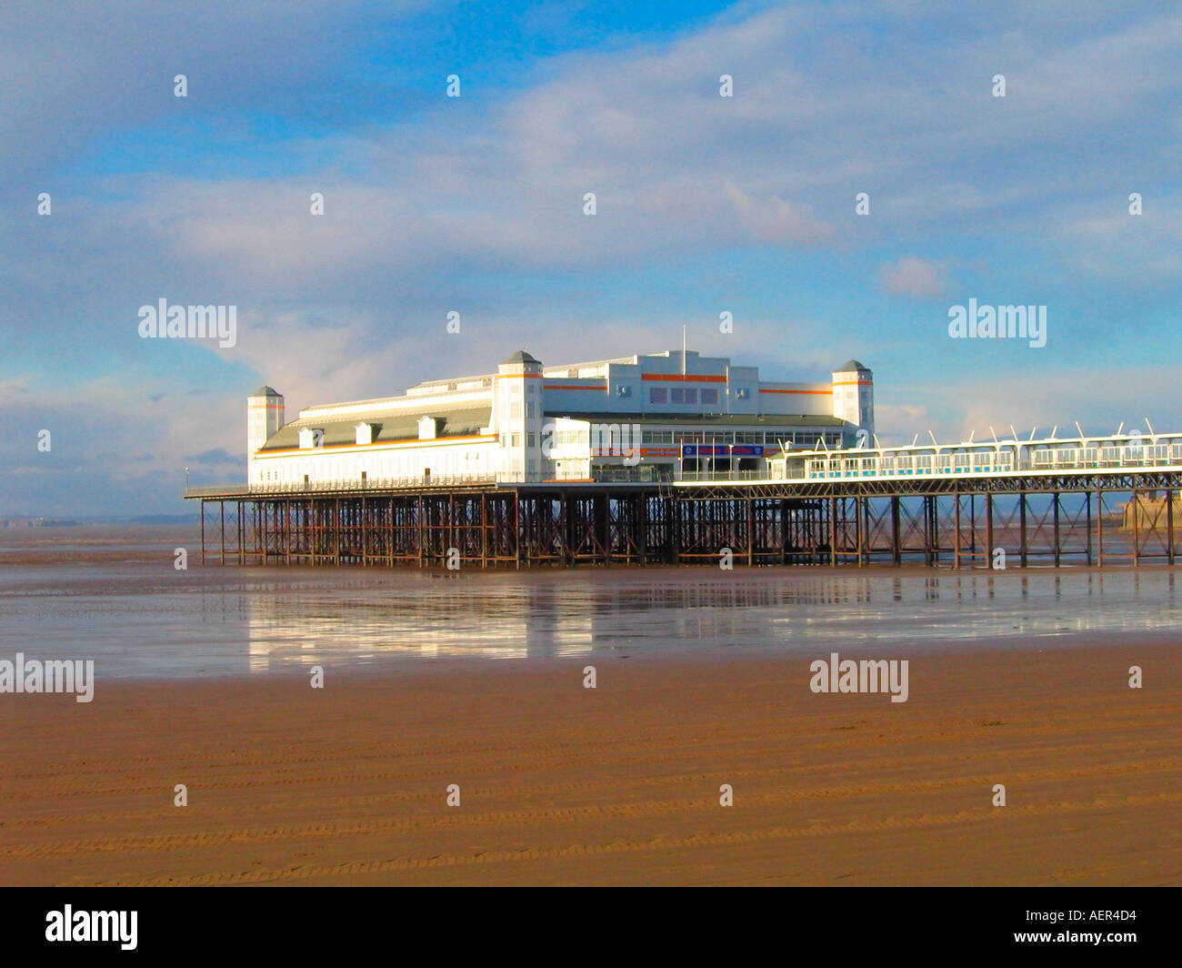 Grand Pier Weston Super Mare Somerset UK - Stock Image