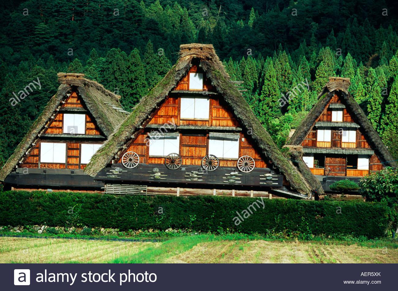 Shirakawa go UNESCO World Heritage site Gifu Prefecture Japan - Stock Image