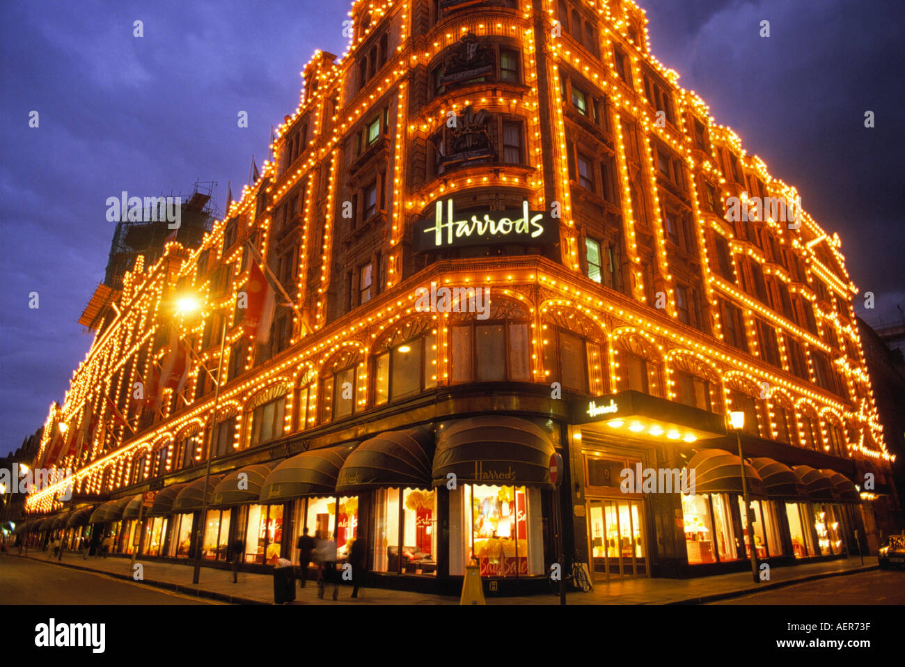harrods department store at christmas city of london england great stock photo 2553662 alamy. Black Bedroom Furniture Sets. Home Design Ideas