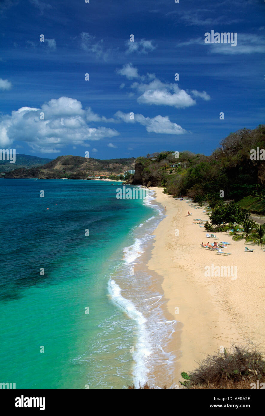 beach near hotel la source island of grenada archipelago of the lesser antilles caribbean - Stock Image