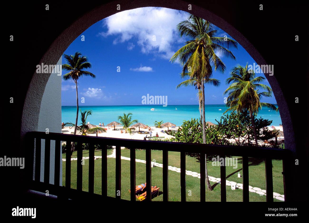hotel jolly beach island of antigua archipelago of the lesser antilles caribbean - Stock Image