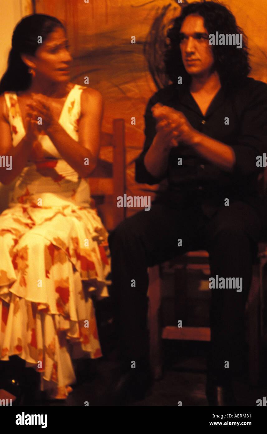 Seville flamenco shows in La Carboneria in the Santa Cruz - Stock Image