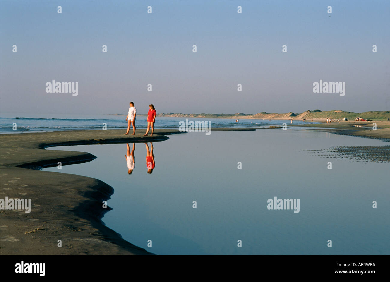 Beach walk at Skagern Denmark - Stock Image