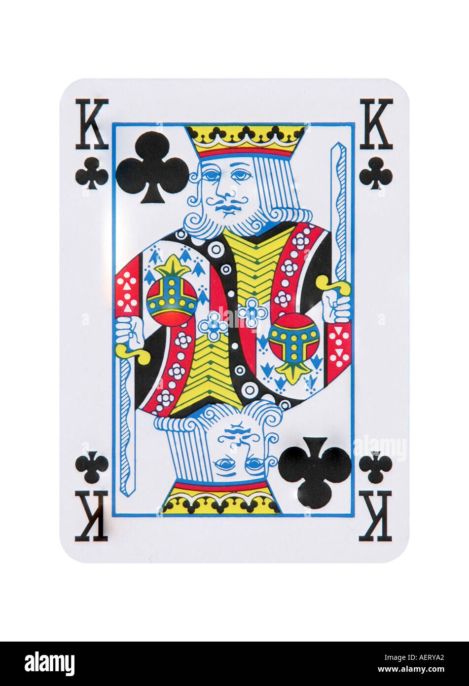 king of clubs card stock photo  alamy