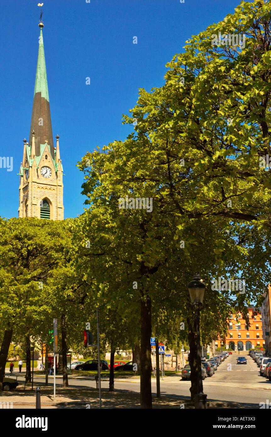 Oskars Kirke church at the corner of Narvavägen and Storgatan in the  Östermalm district of Stockholm a3f014c4dd42b