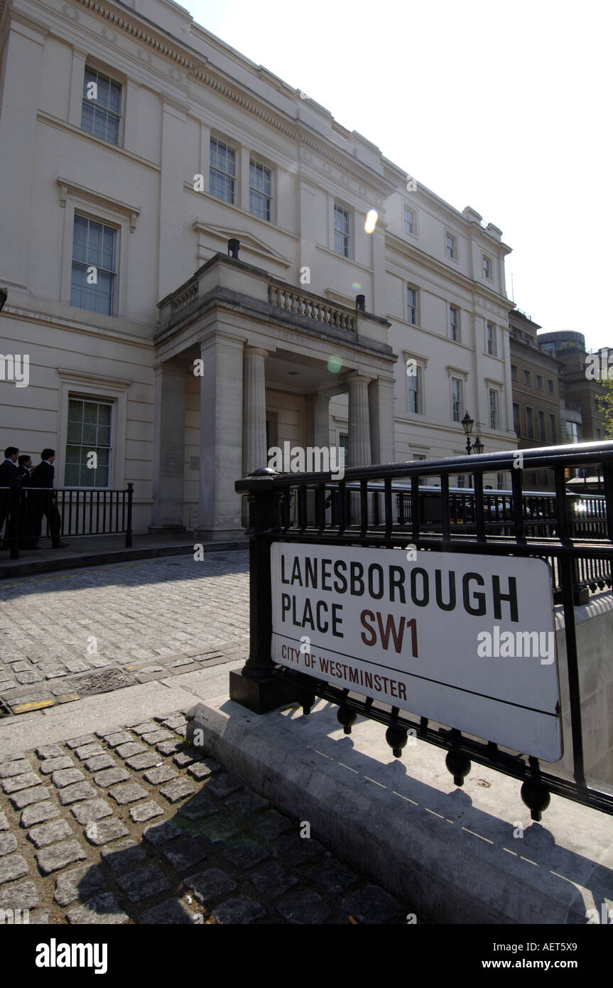 The Lanesborough Hotel, Hyde Park Corner, London, UK - Stock Image