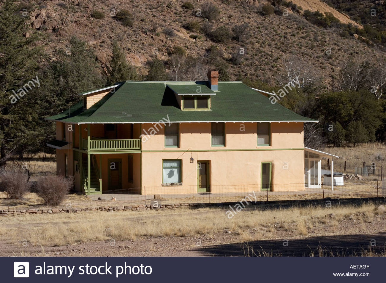 Faraway Ranch Headquarters Chiricahua National Monument Arizona home of Neil Erickson and Emma Erickson who settled here in 1888 - Stock Image