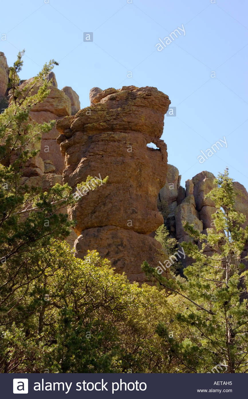 Sea Captain a Rock Formation in the Chiricahua National Monument Arizona - Stock Image