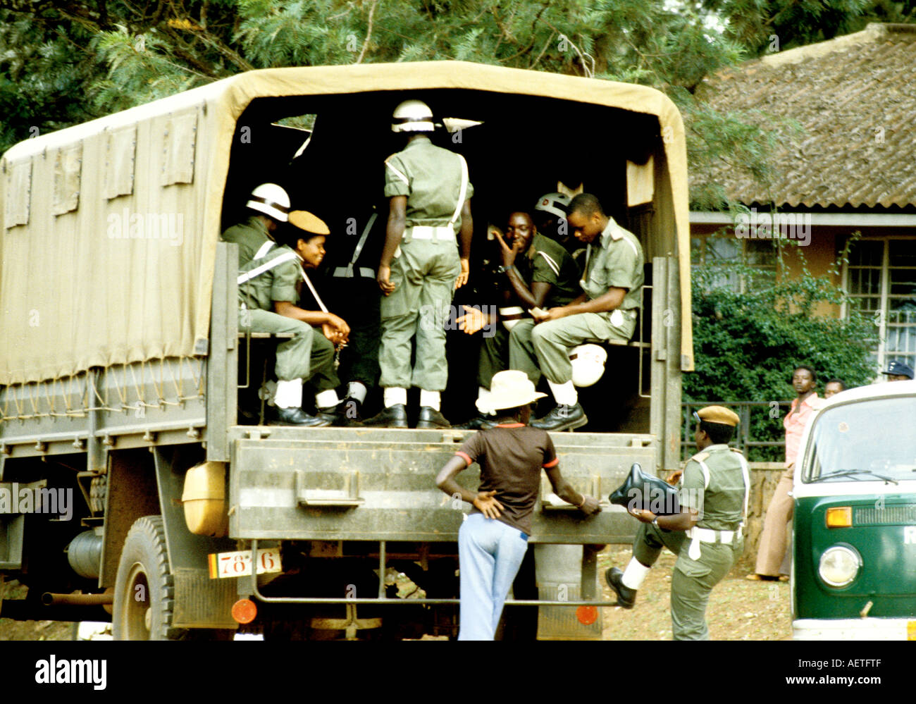 A contingent of the Rwandan Army - Stock Image