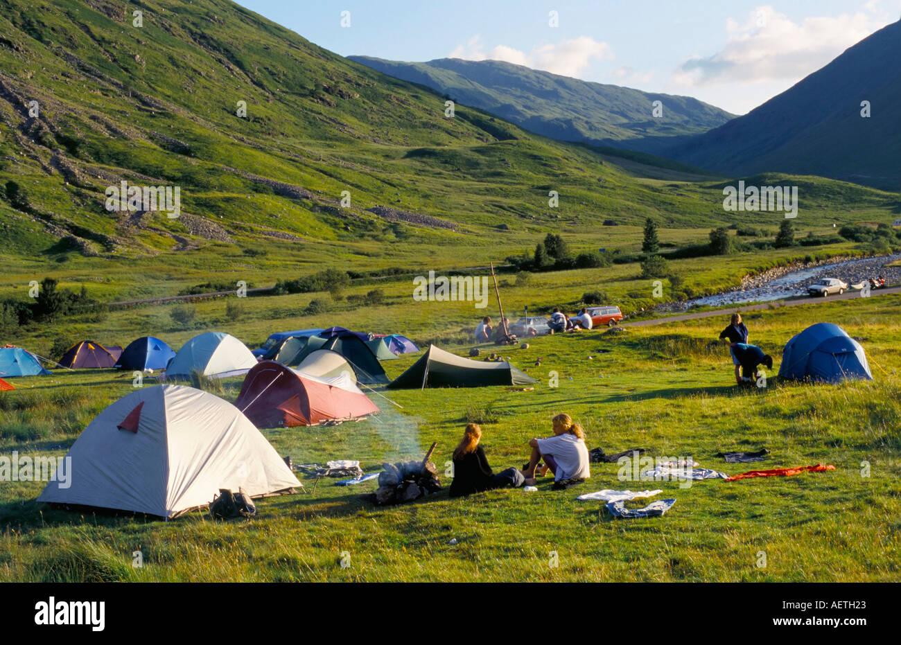 Camping Glencoe Highlands Scotland United Kingdom Europe ...