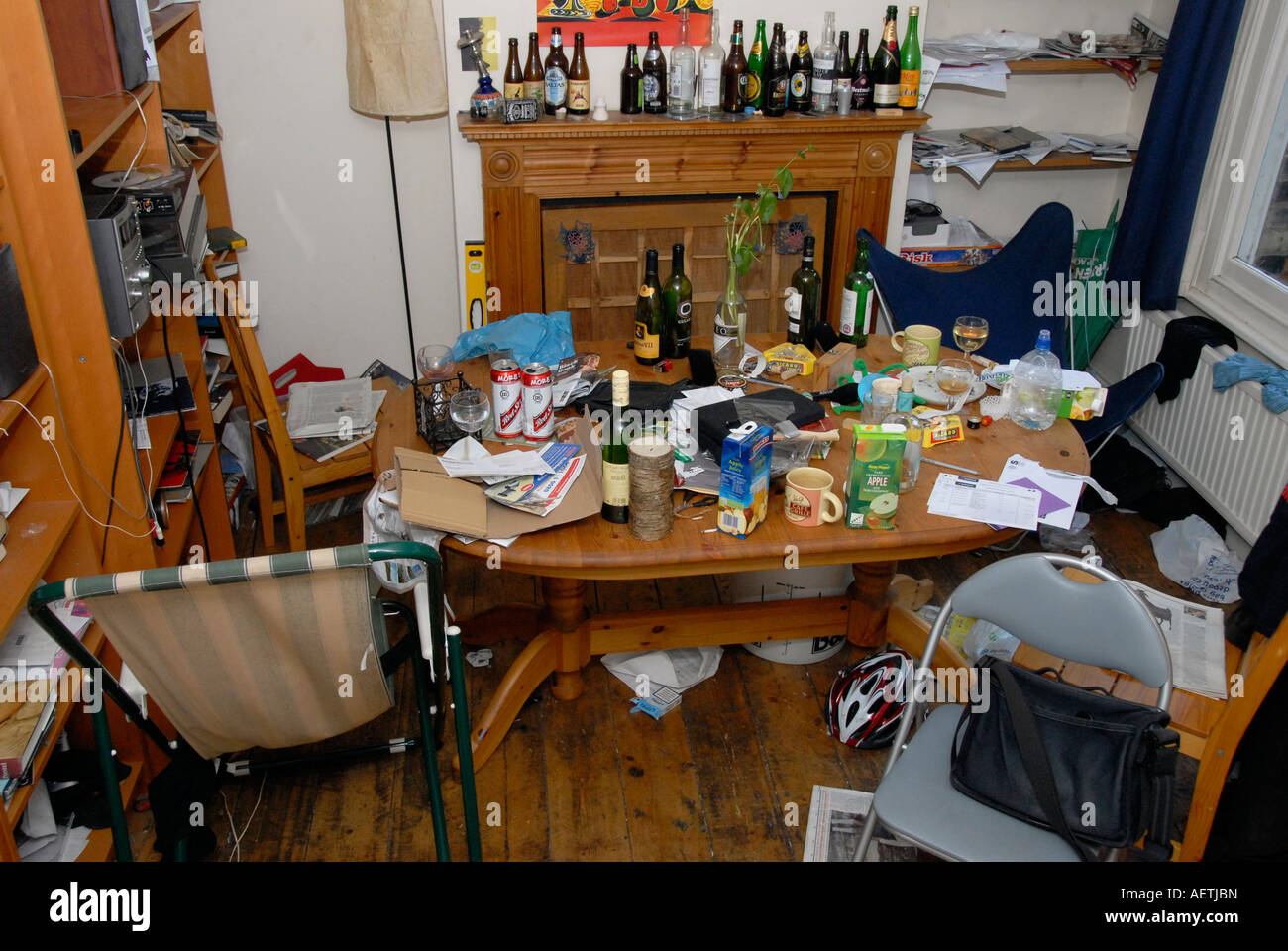 Dining Table The Morning After A Party In Student House