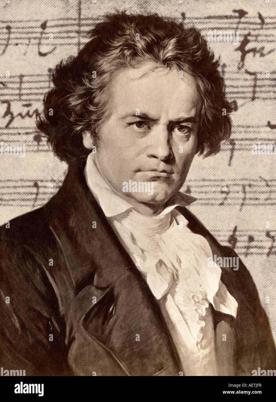 Ludwig van Beethoven. Illustration - Stock Image