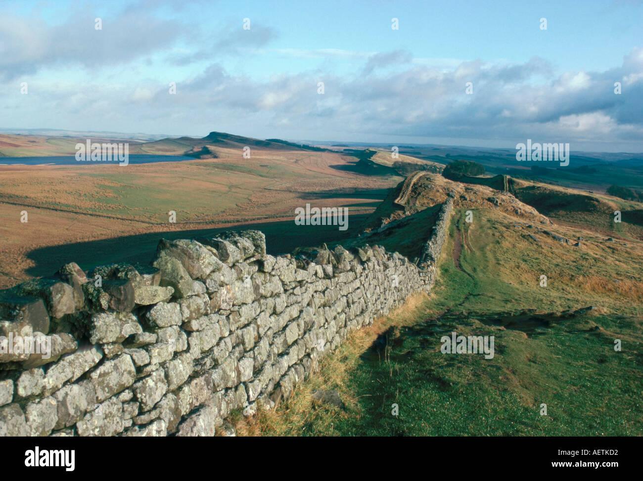 Hadrian s Wall UNESCO World Heritage Site Northumbria England U K Europe - Stock Image