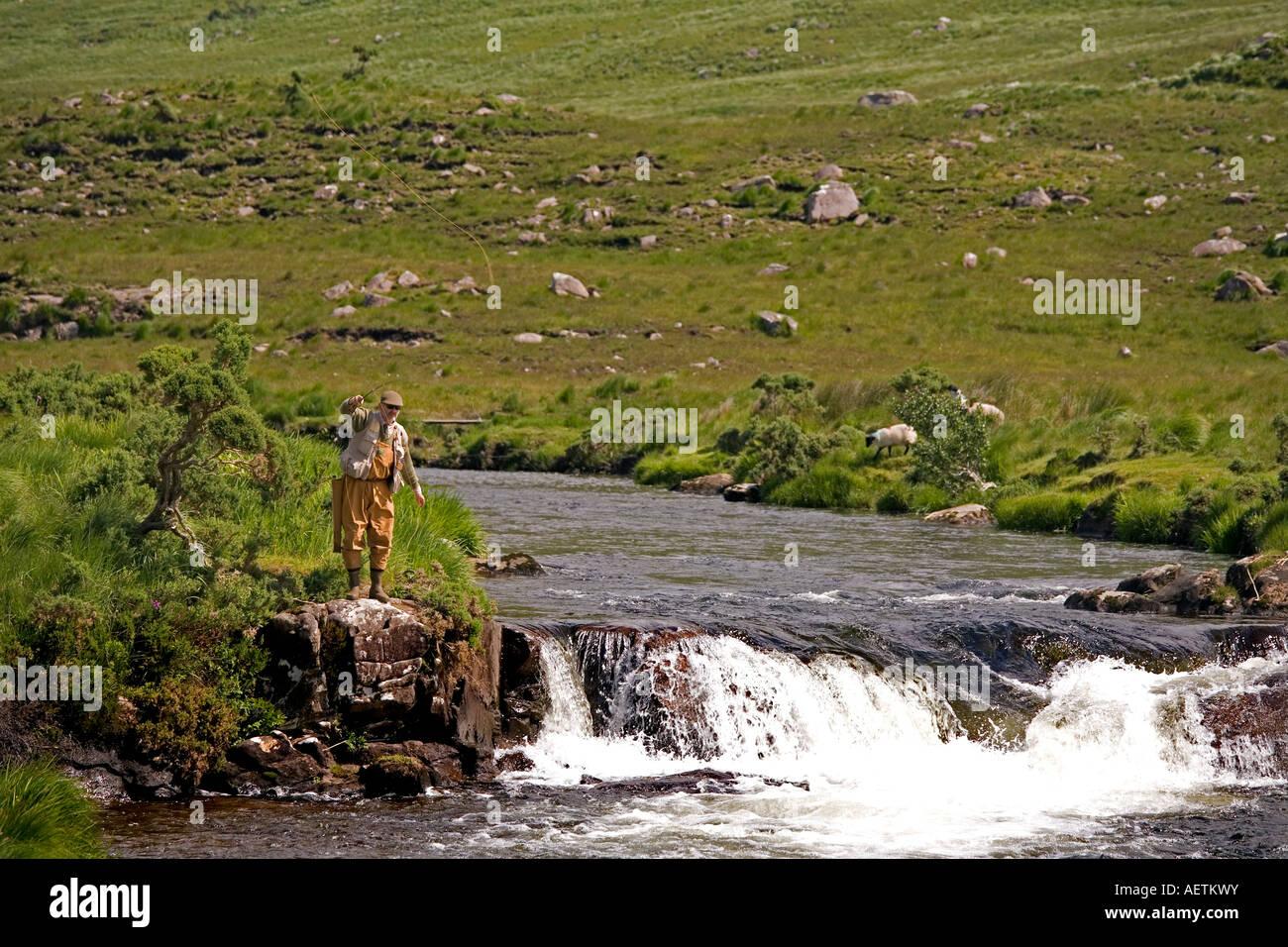 Bundorragha, River County Mayo, Ireland - Stock Image
