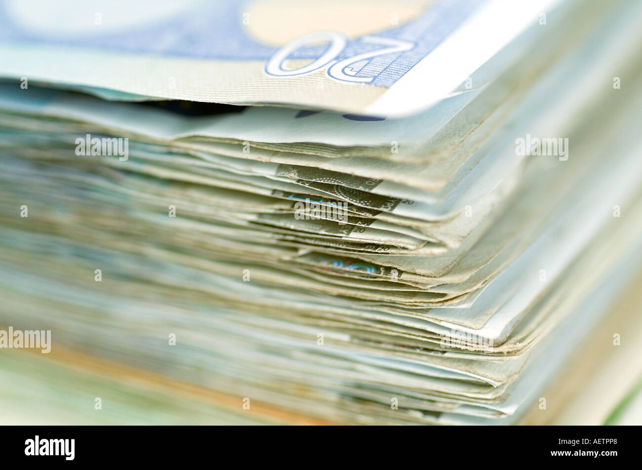 Pile of banknotes - Stock Image