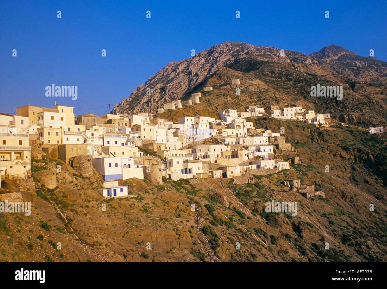 Olymbos Olimbos village Karpathos Dodecanese islands Greece Mediterranean Europe Stock Photo