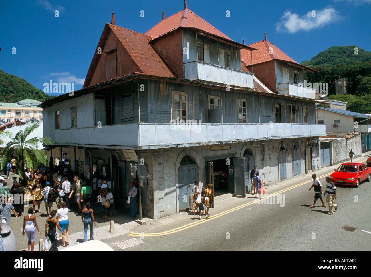Albert Street Victoria island of Mahe Seychelles Indian Ocean Africa - Stock Image