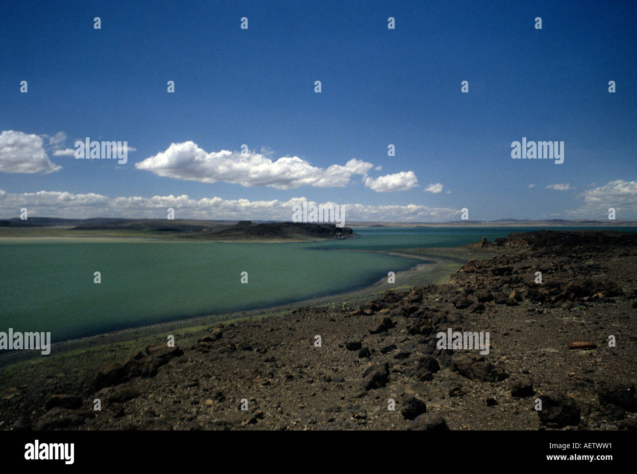 Lake Turkana, northern Kenya East Africa Stock Photo