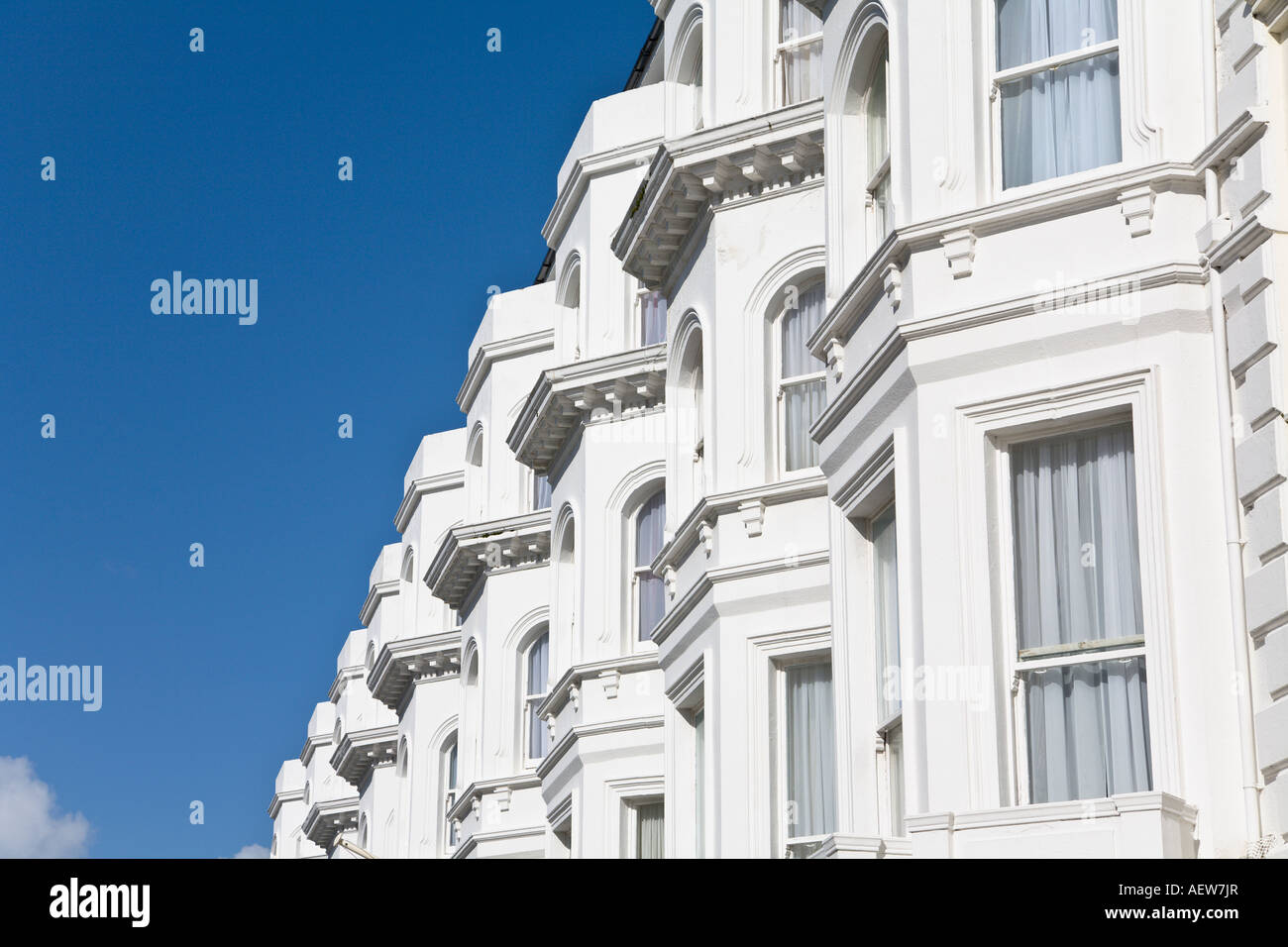 Victorian building converted to apartments Eastbourne 'East Sussex' England - Stock Image