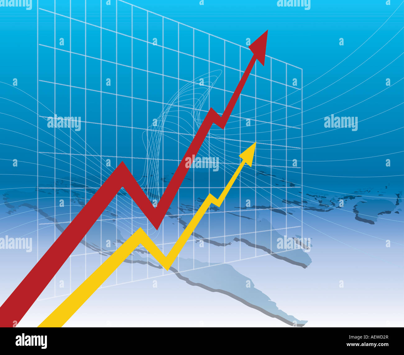 The world business benefit of graph Stock Photo
