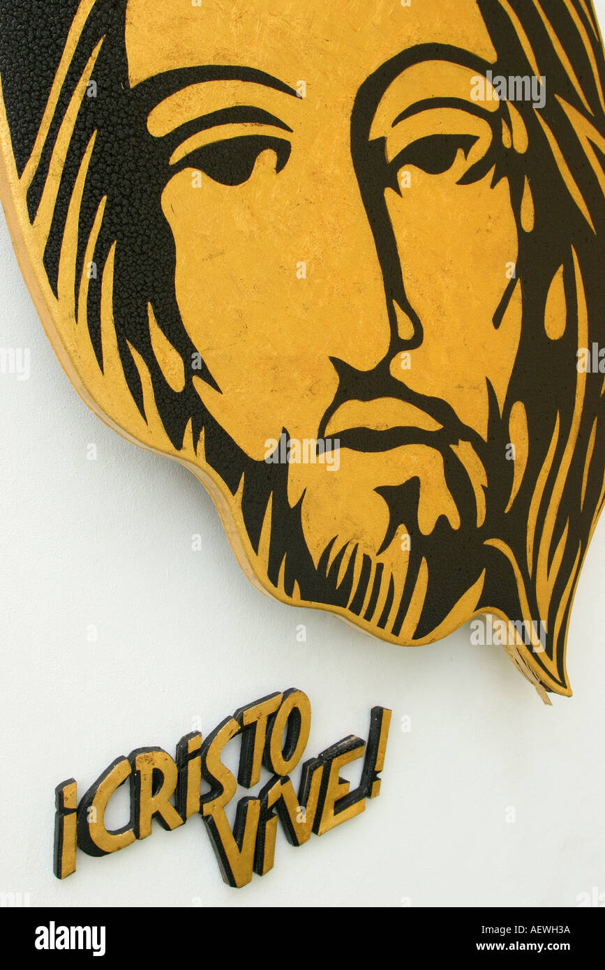 Key Biscayne Florida St  Agnes Catholic Church art Jesus Christ face