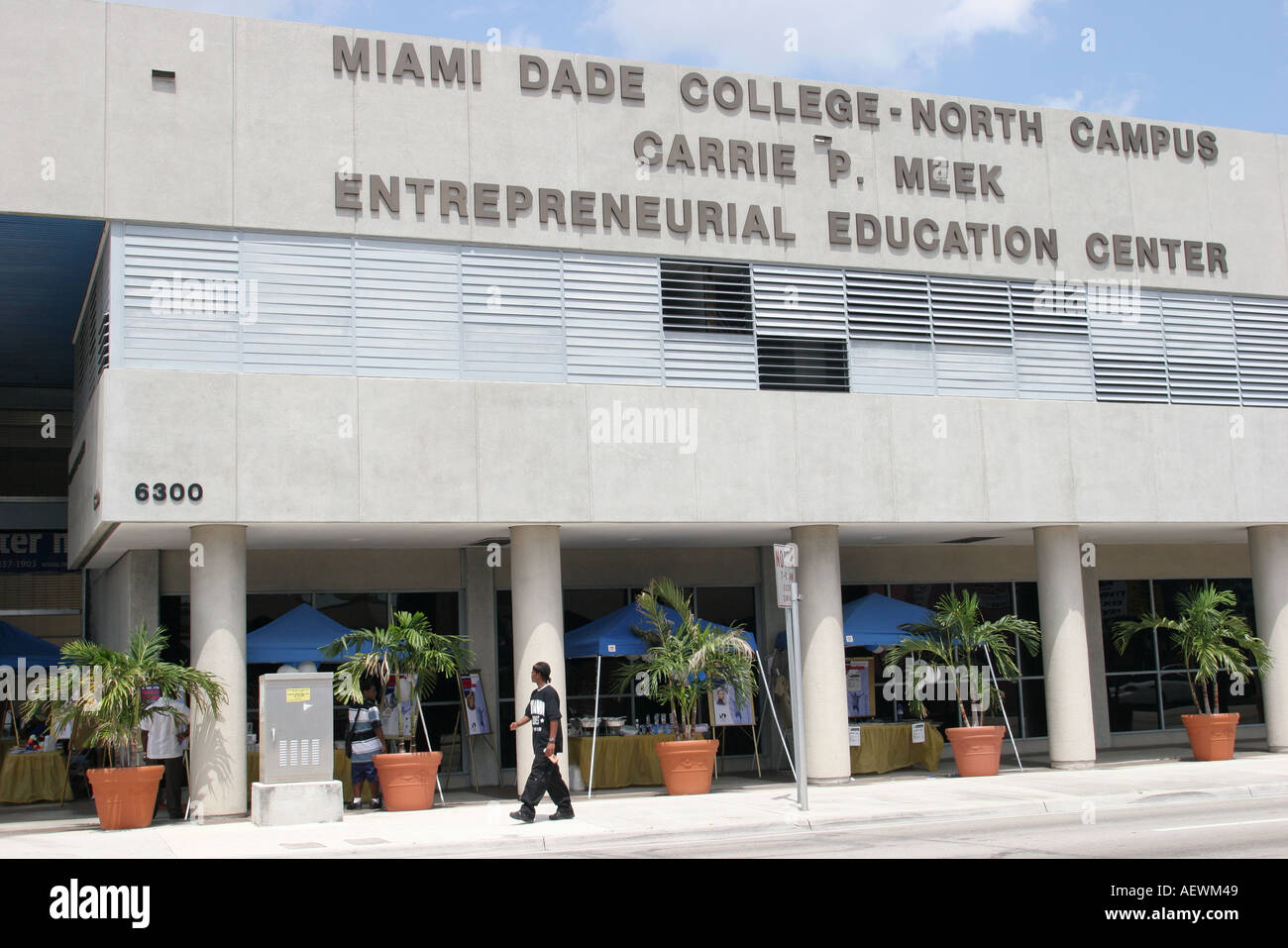Miami Florida Liberty City Miami Dade College Carrie P  Meek Stock