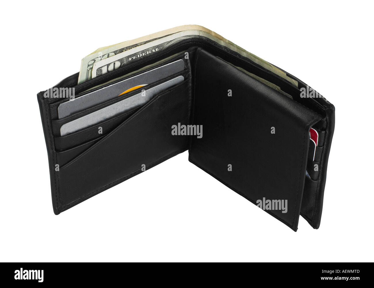 Still life of an open wallet - Stock Image