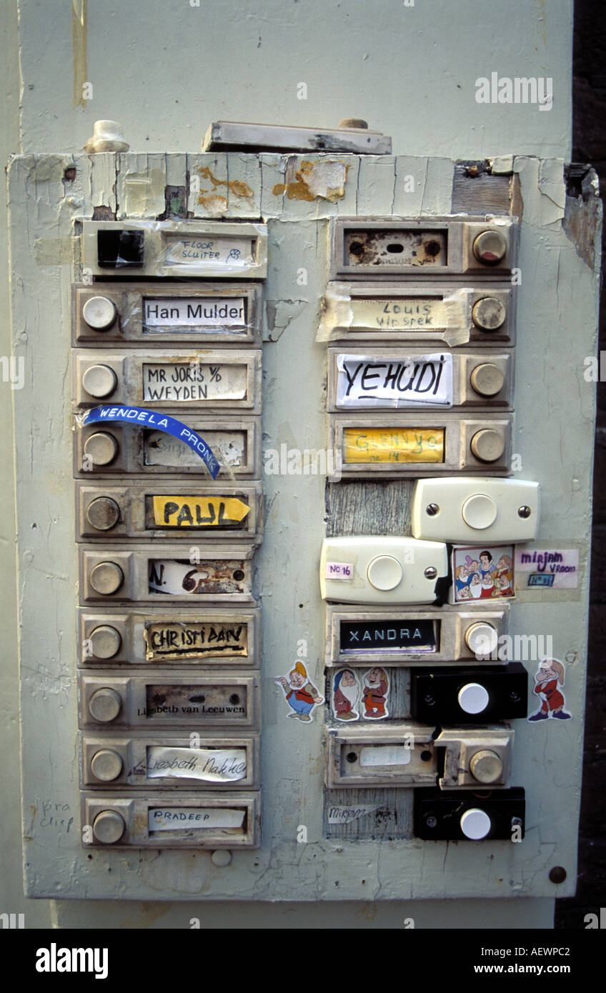 Doorbells House Stock Photos Images Alamy Household Wiring Doorbell Amsterdam Of A Students Image