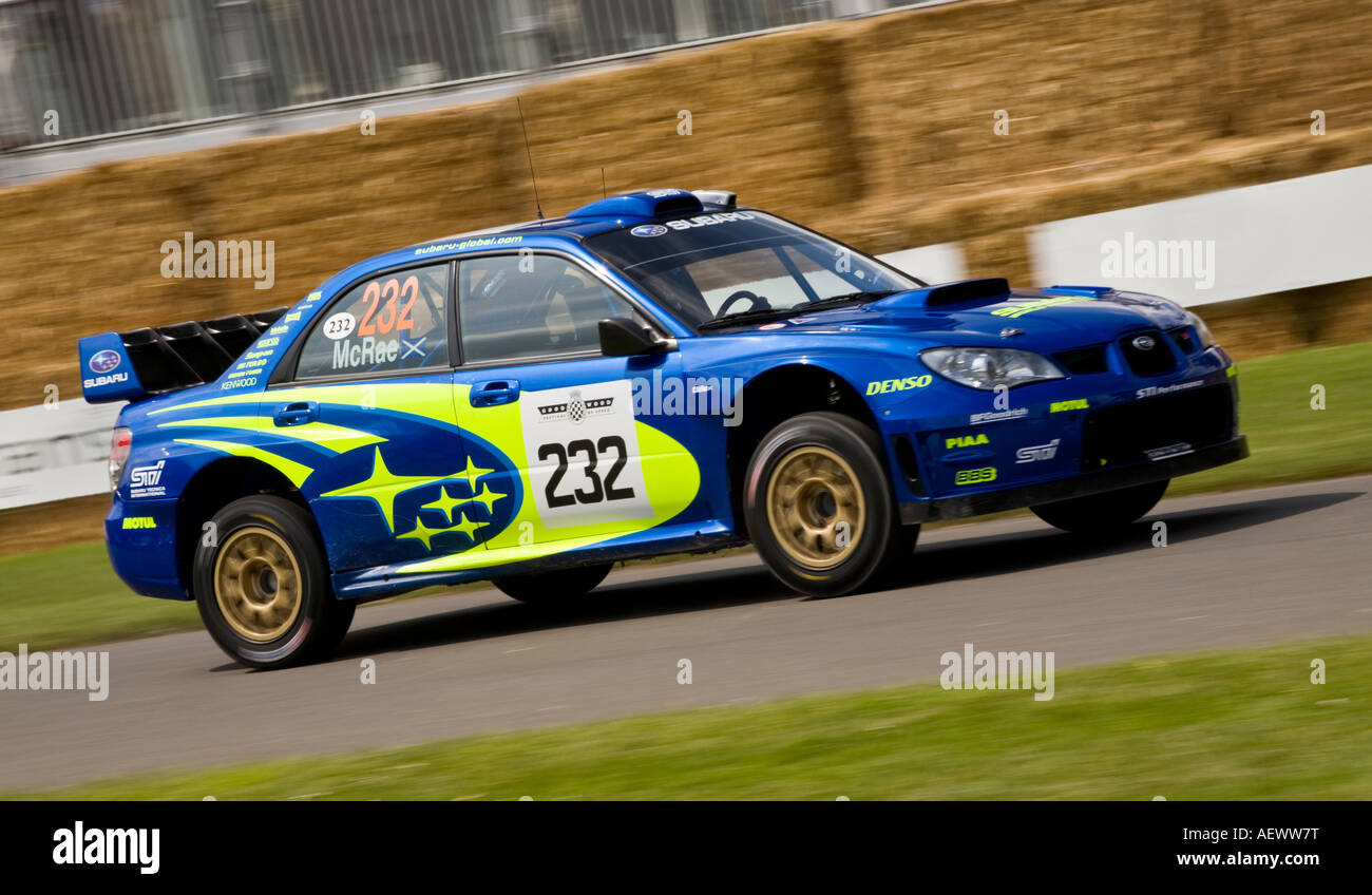 2007 Subaru Impreza WRC rally car at Goodwood Festival of Speed ...