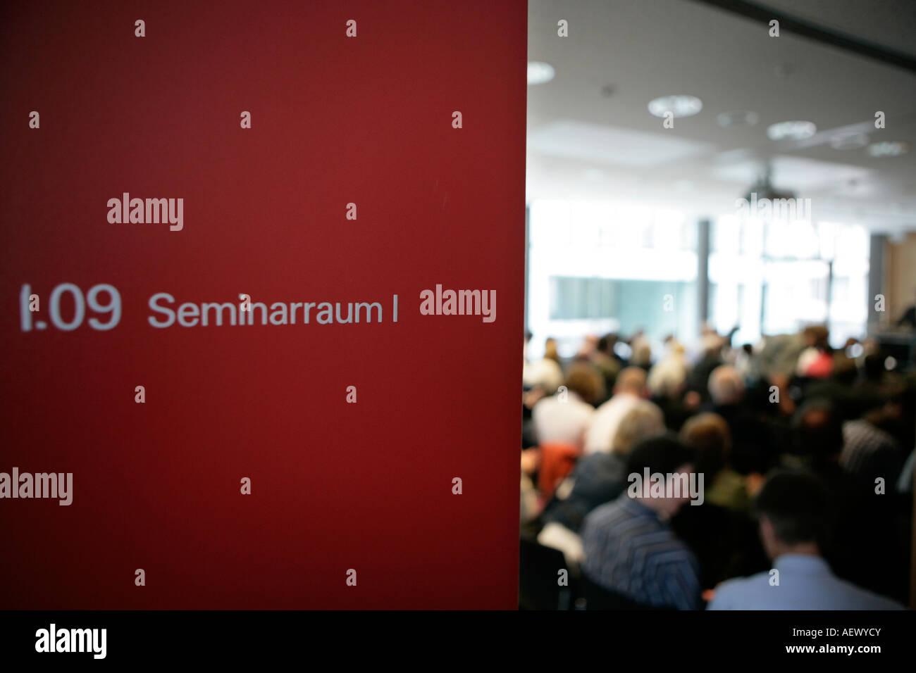 Seminary room - Stock Image