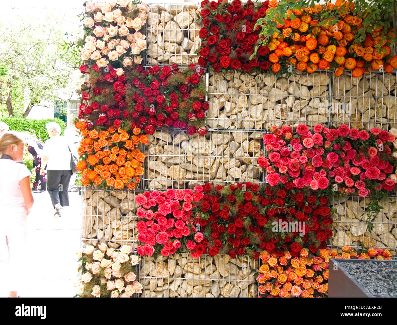 Greatest flower wall arrangement decoration abstract concept idea  HX14
