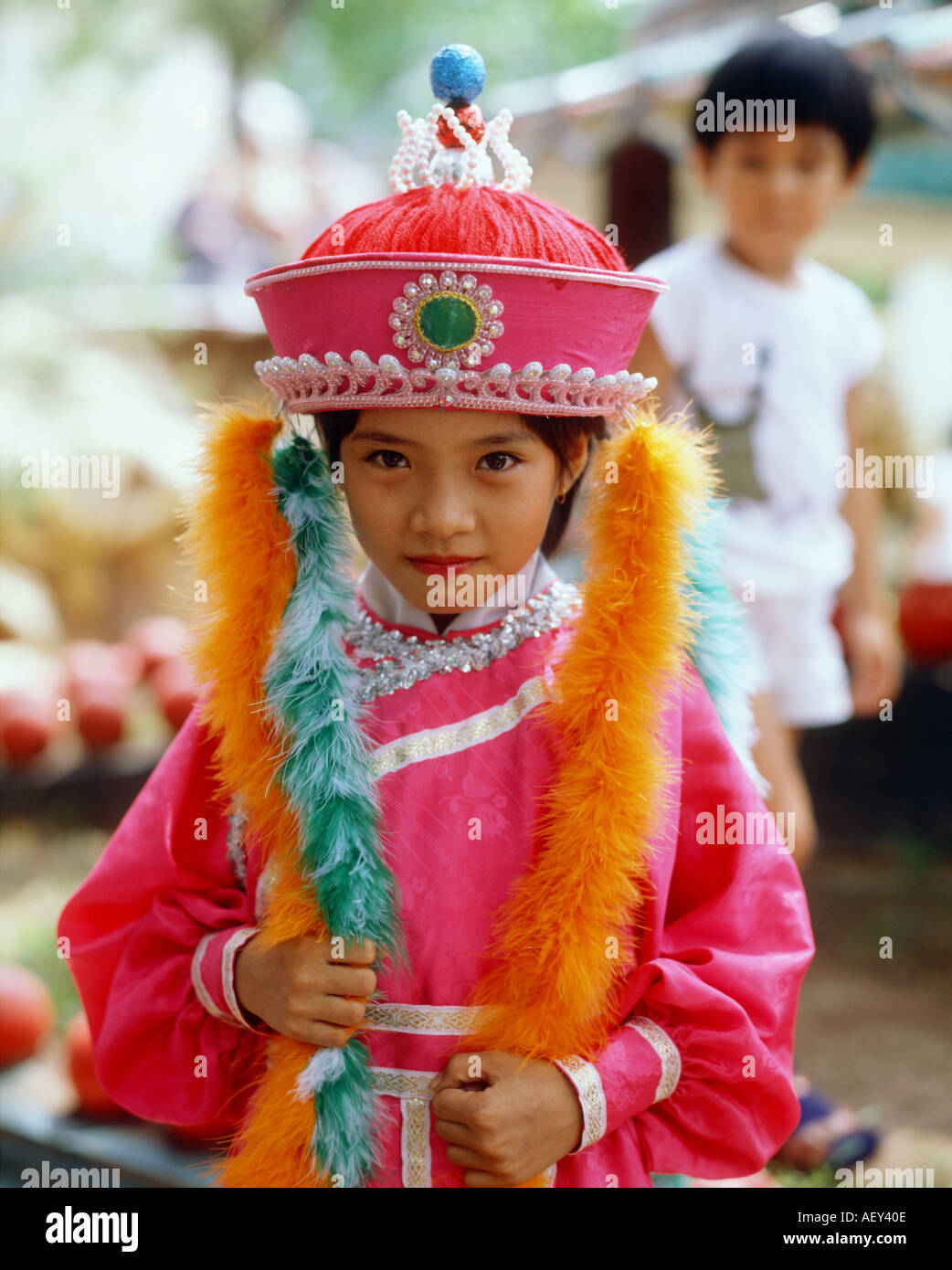 Girl In National Costume Singapore Stock Photo 2569229 Alamy