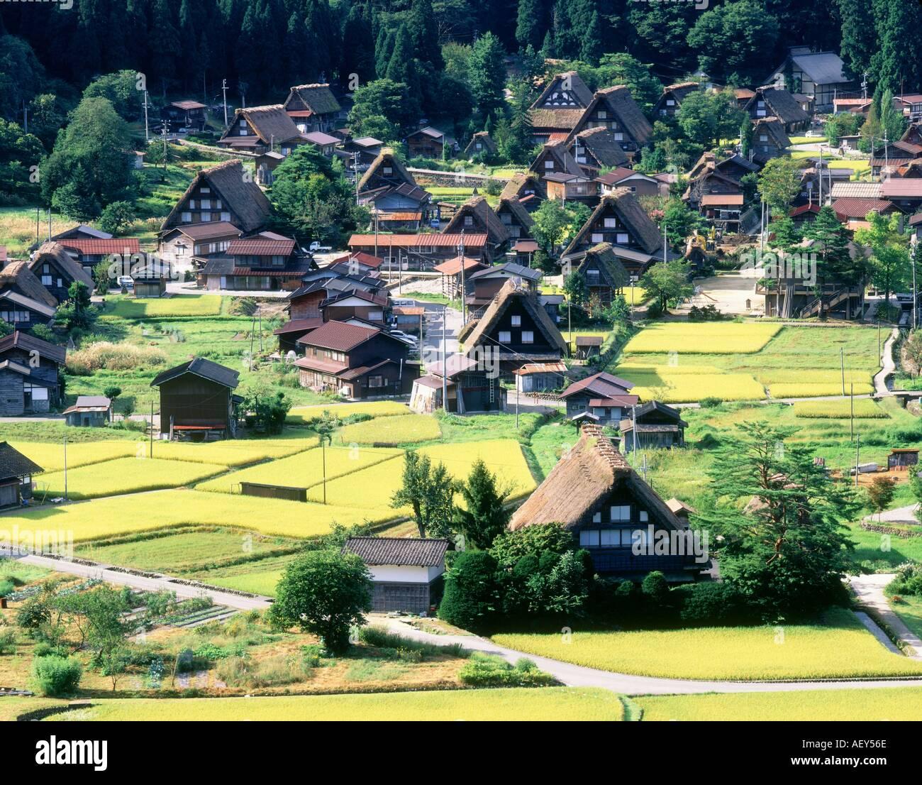 Traditional Japanese House World Heritage SHIRAKAWA VILLAGE GIFU JAPAN - Stock Image