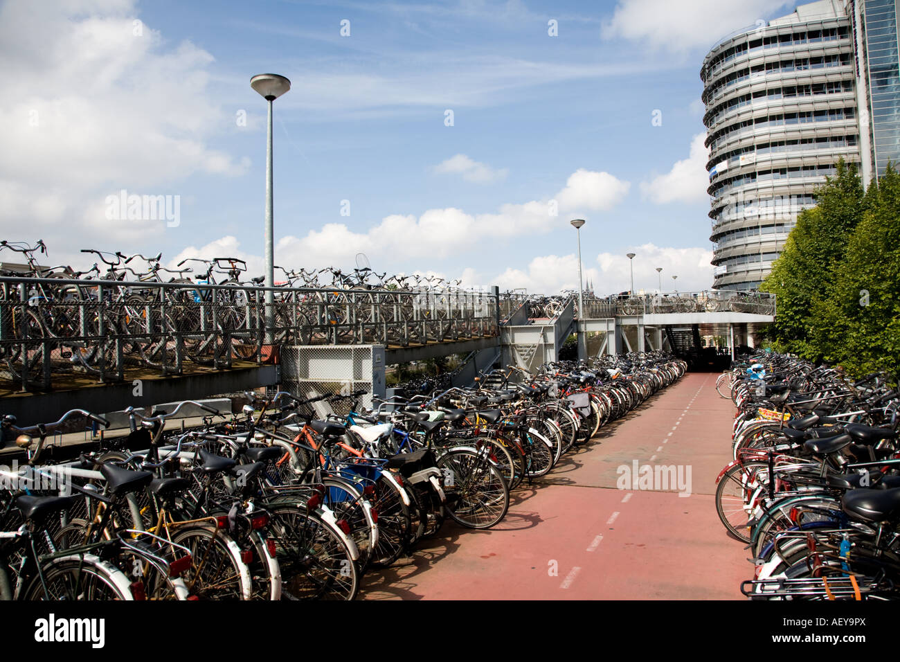 Bicycle Parking Central Train Station Amsterdam