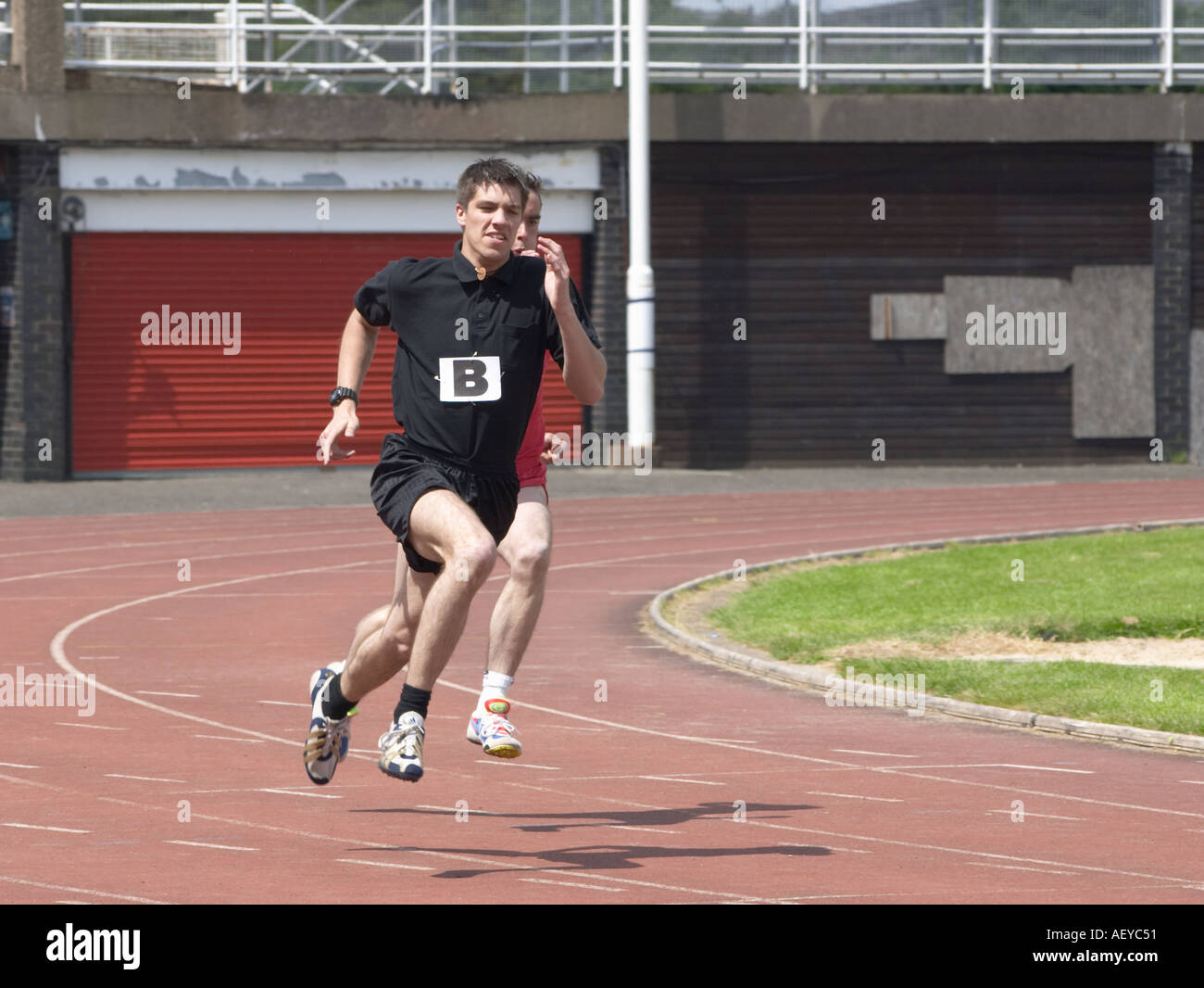 runner at an athletics competition - Stock Image