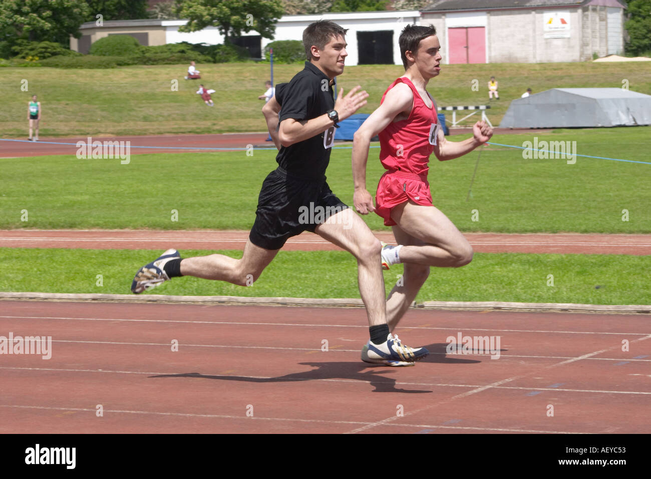 runners at an athletics competition - Stock Image