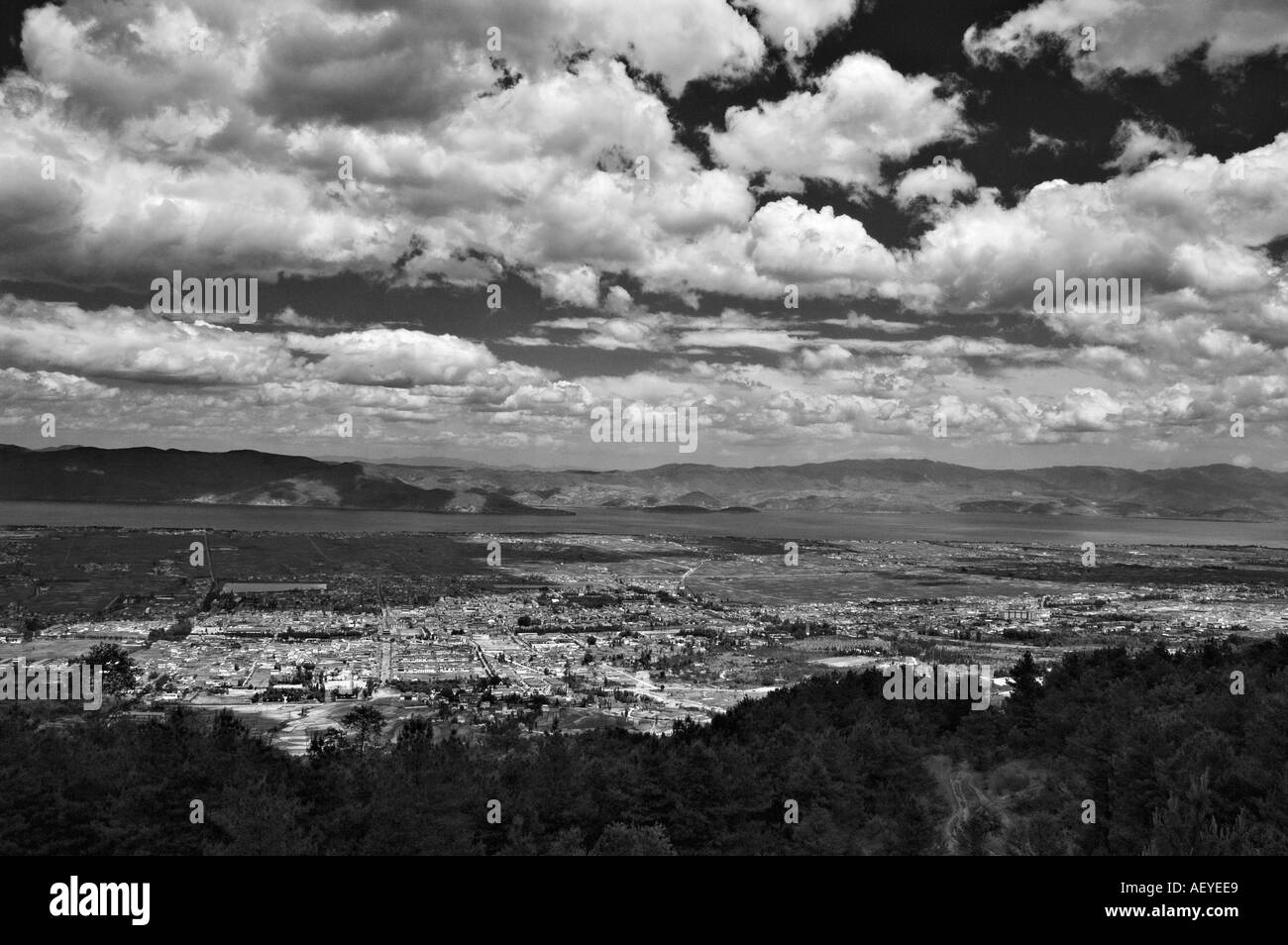 Dali town seen from Changshan - Stock Image
