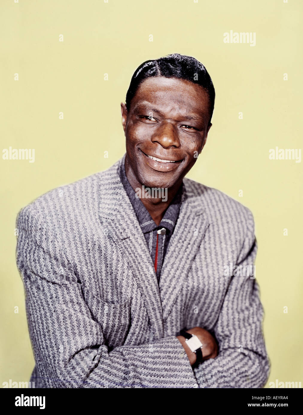 NAT KING COLE (1919-1965) American singer about 1964 - Stock Image