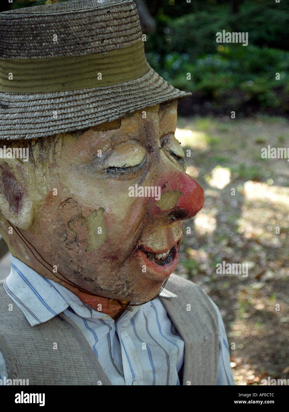 fable figure old man in the flower park Mozirski Gaj in the town Mozirje in the in the valley of the river Savinja in Slovenia - Stock Image