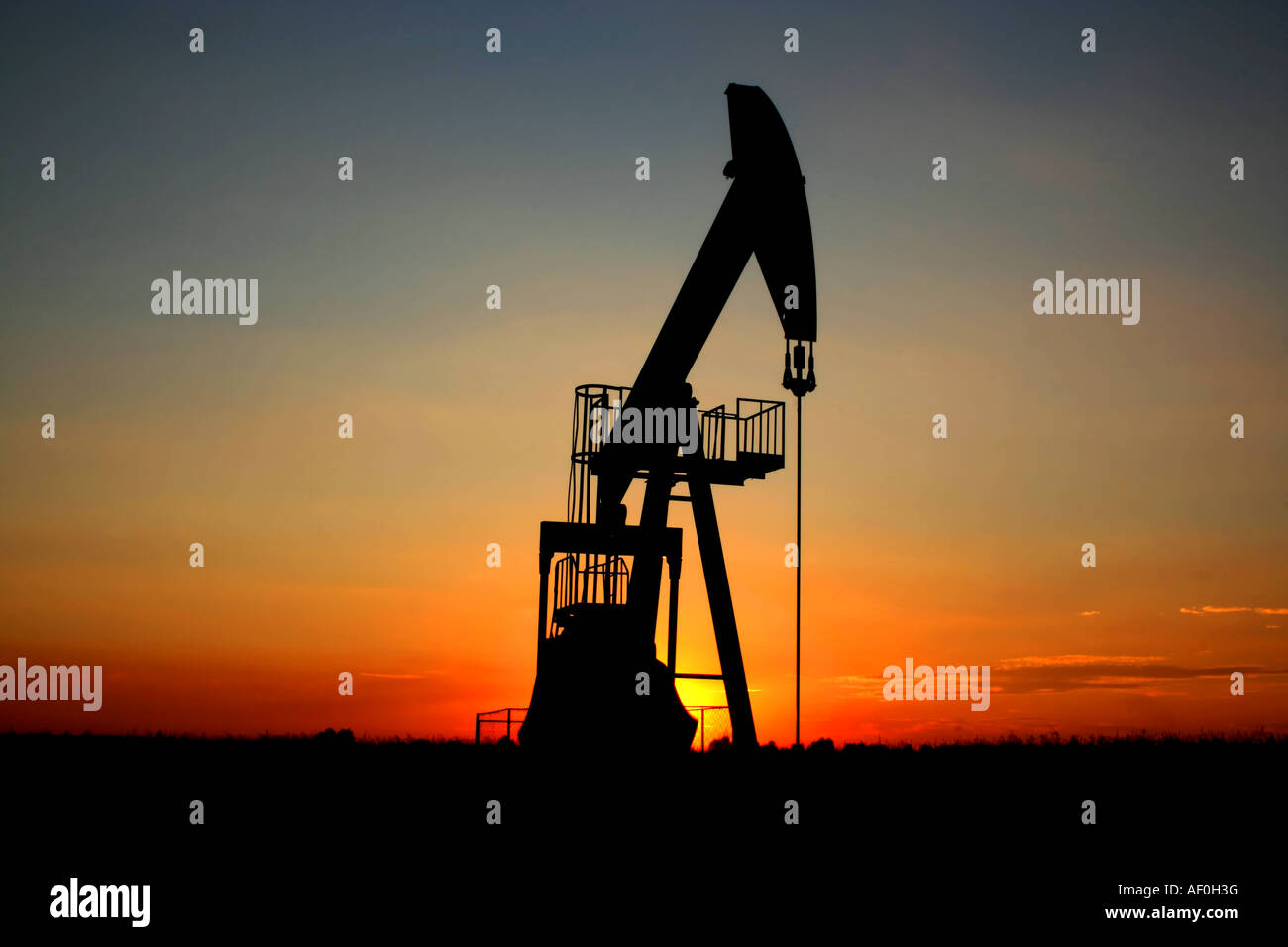pump jack - Stock Image