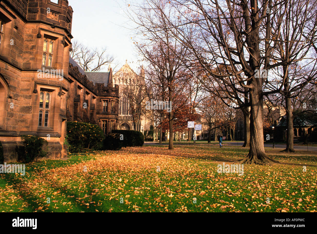 USA Princeton New Jersey The Campus at Princeton University in the Autumn - Stock Image