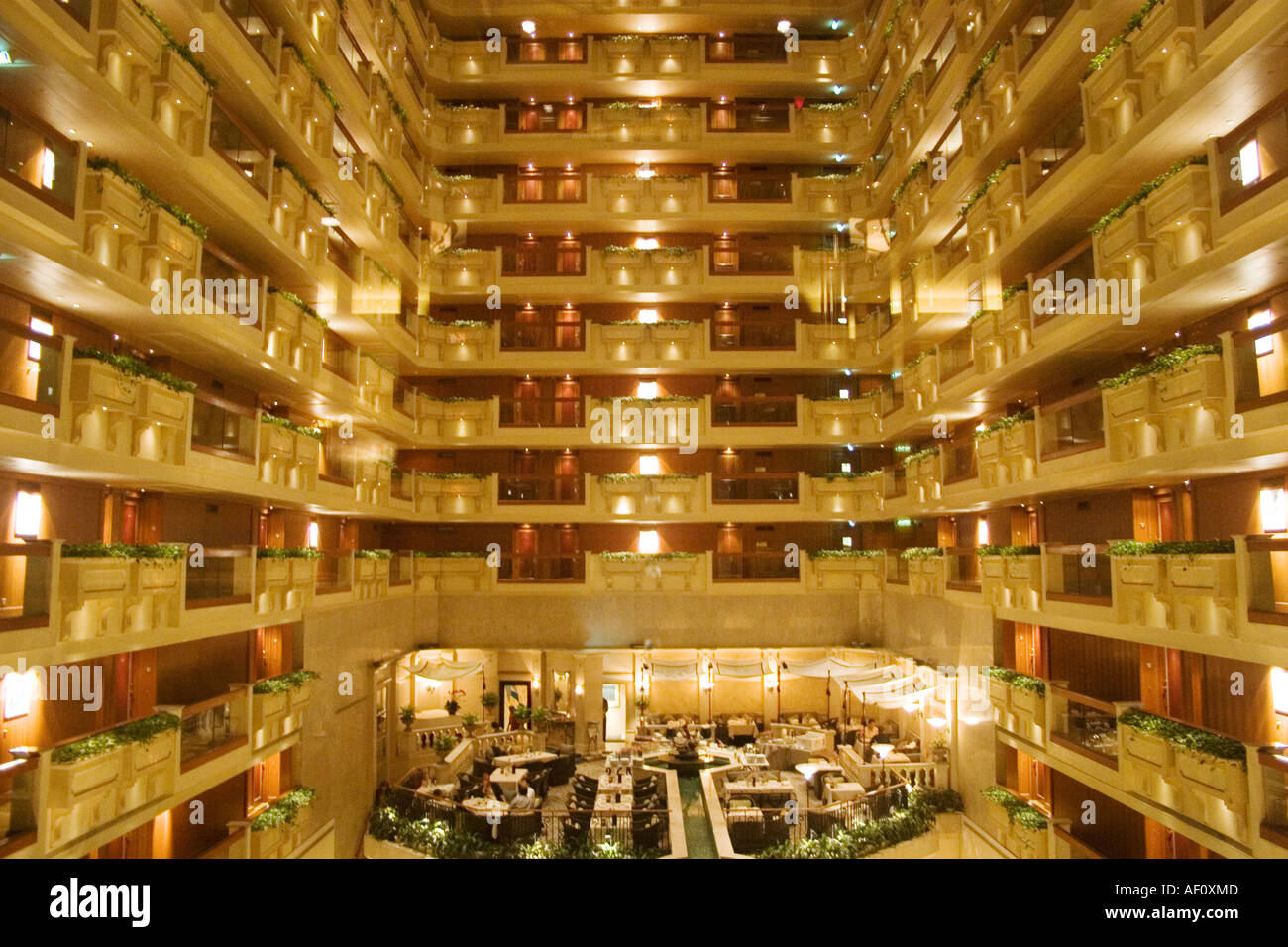 Exceptional Interior Balconies In The Atrium At Hong Kong S Famous Royal Garden Hotel. Amazing Ideas