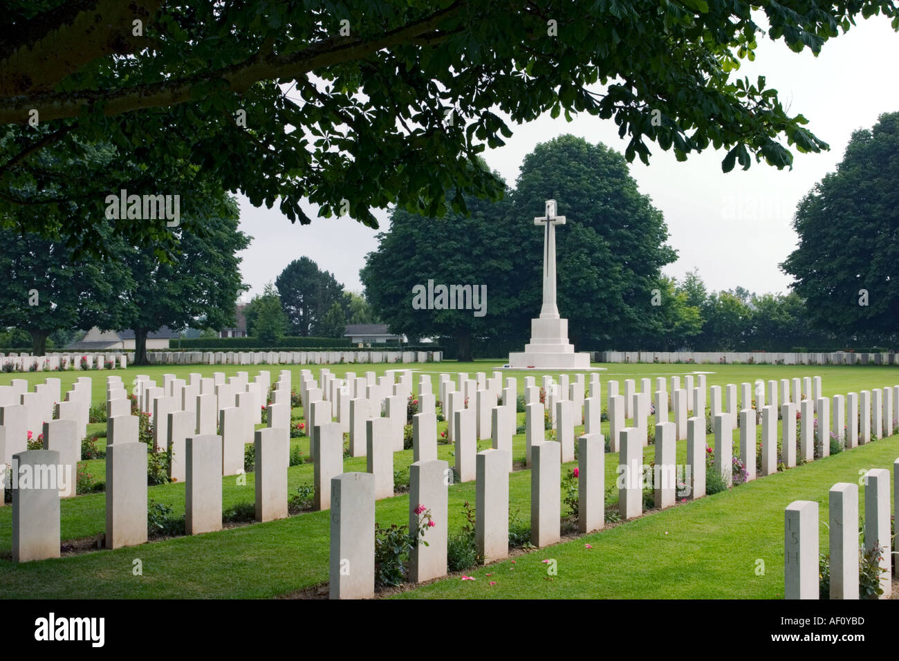 Bayeux Military Cemetery largest British Commonwealth WW2 Cemetery in the world Bayeux Normandy France Stock Photo