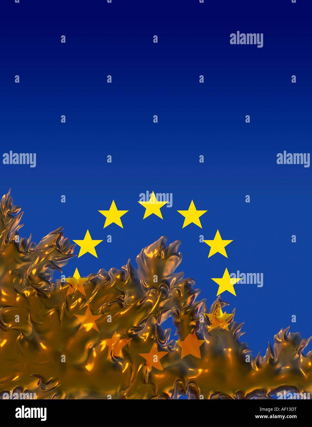Eu European Union flag - Stock Image
