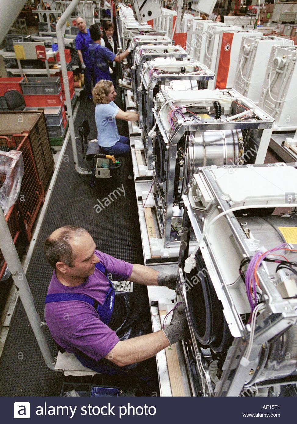 miele waschmaschinen produktion stock photo 7884096 alamy