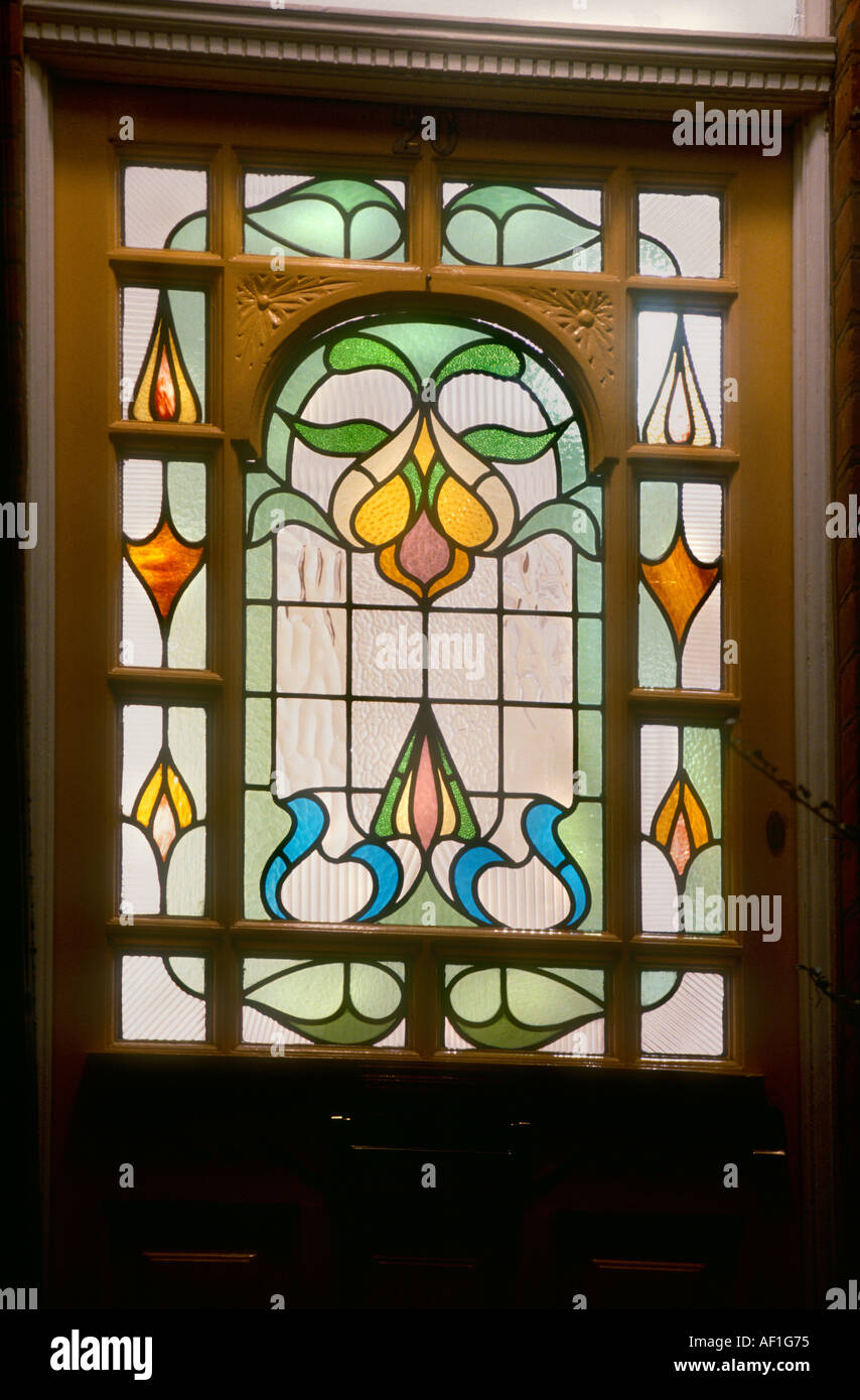 Edwardian Stained Glass Front Door Stock Photos Edwardian Stained