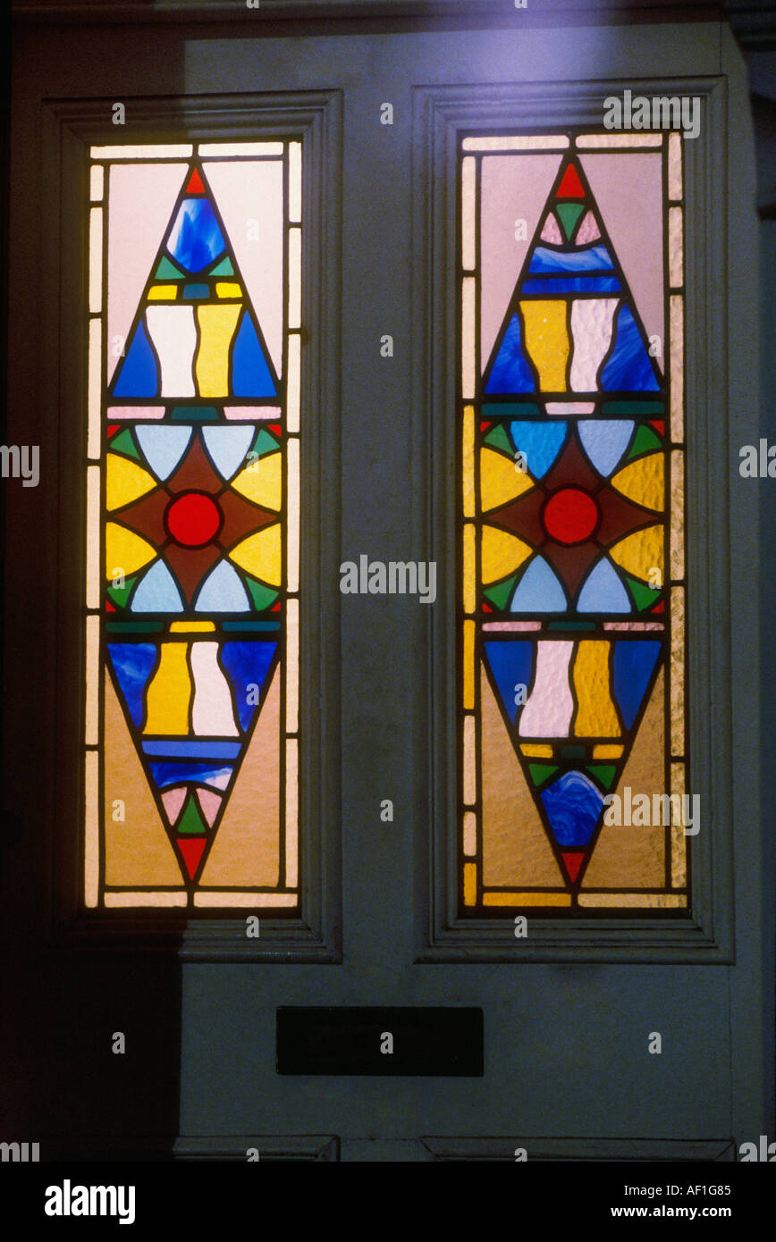 Edwardian stained glass front door british housing london stock edwardian stained glass front door british housing london planetlyrics Images