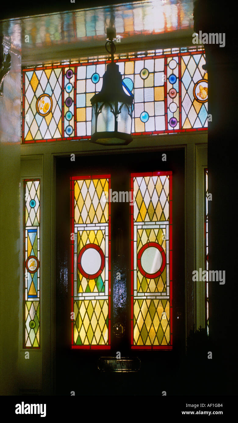 Victorian Front Door Stained Glass Stock Photos Victorian Front