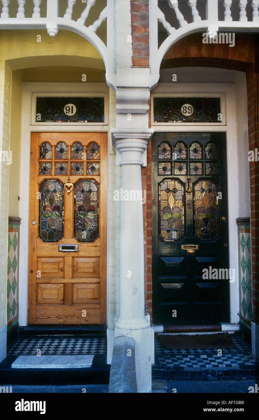 Victorian Stained Glass Front Door Stock Photos Victorian Stained
